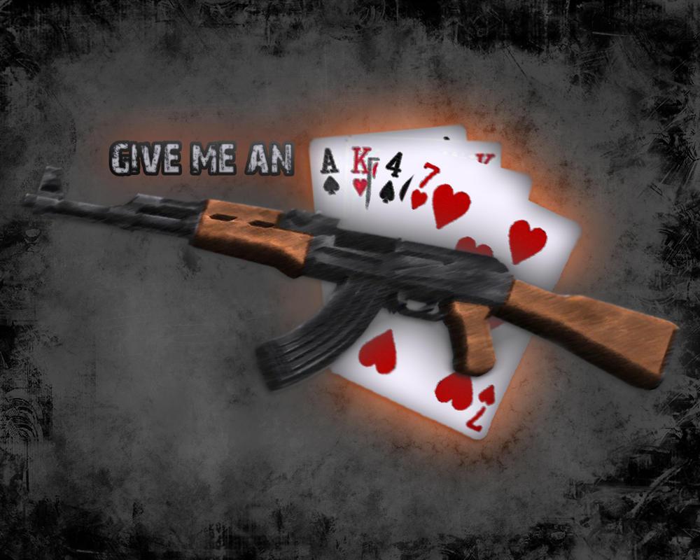 Ak47 Wallpaper Give Me An AK 47 By Qman32