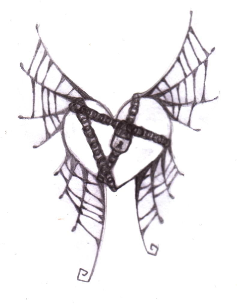 cobweb winged chained heart by littlenatnatz101 on deviantart. Black Bedroom Furniture Sets. Home Design Ideas