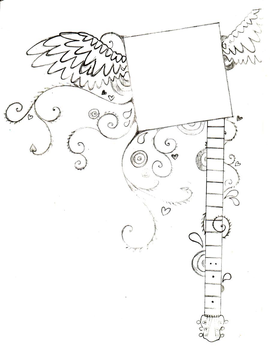 winged guitar frame by littlenatnatz101 winged guitar frame by littlenatnatz101