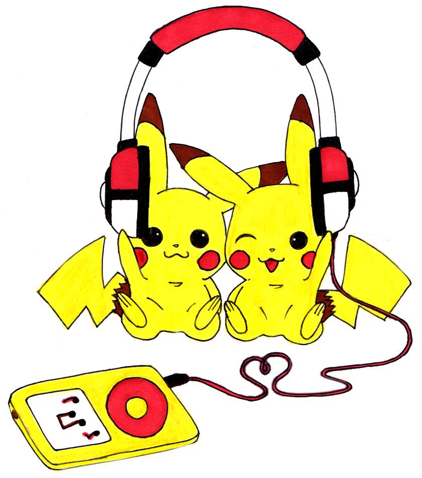Pikachu Music Love by littlenatnatz101 on DeviantArt