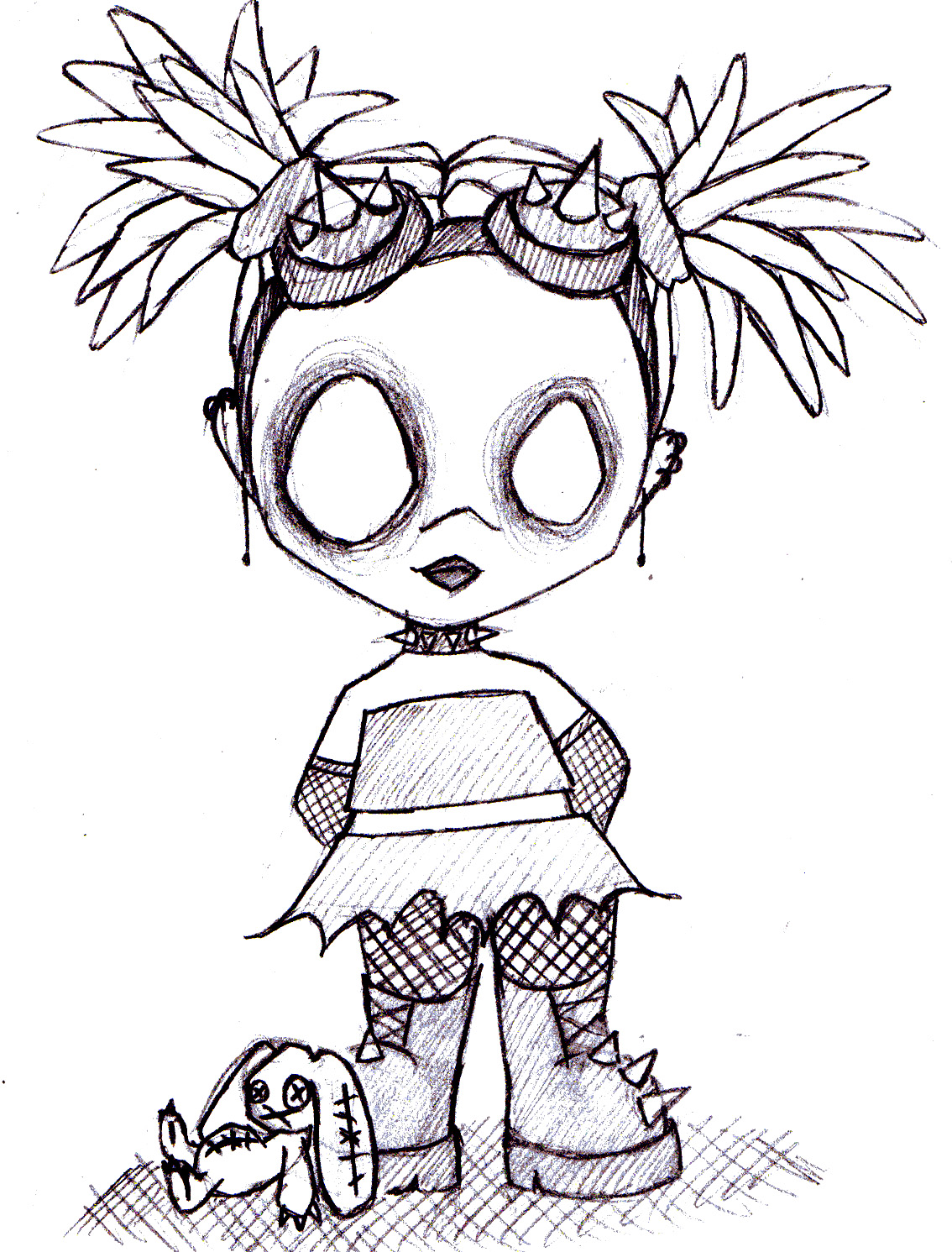 Zombie Little Girl Tattoo Top Zombie Girl Drawin...