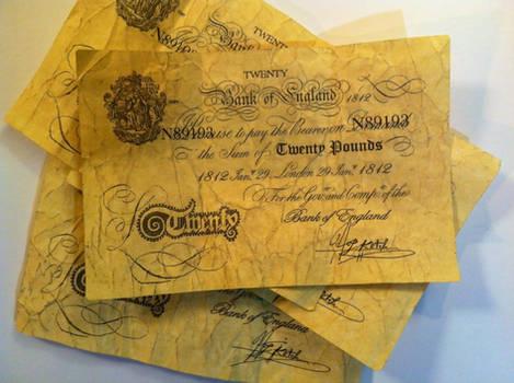 Reproduction1812 British Banknotes