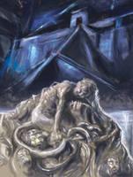 Ereshkigal in the Underworld by Mitchellnolte