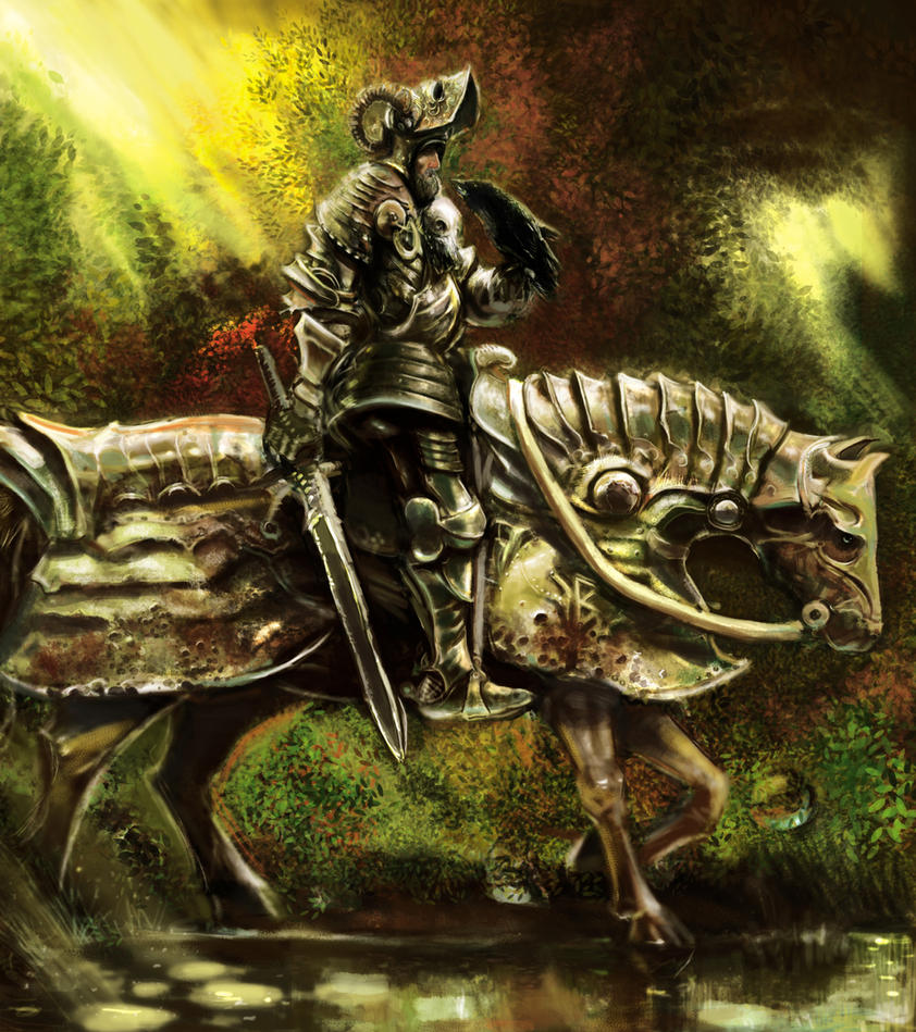 Old Knight of the Forest by Mitchellnolte