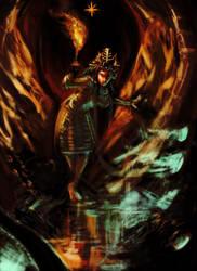 Inanna Enters the Underworld by Mitchellnolte