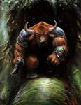 Minotaur Guard by Mitchellnolte