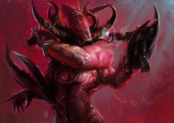 Greater Daemon of Slaanesh conception by Mitchellnolte