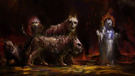 Cat Headed Demons in Gagh Sehekelah by Mitchellnolte