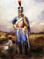 Quick Sketch French Hussar by Mitchellnolte