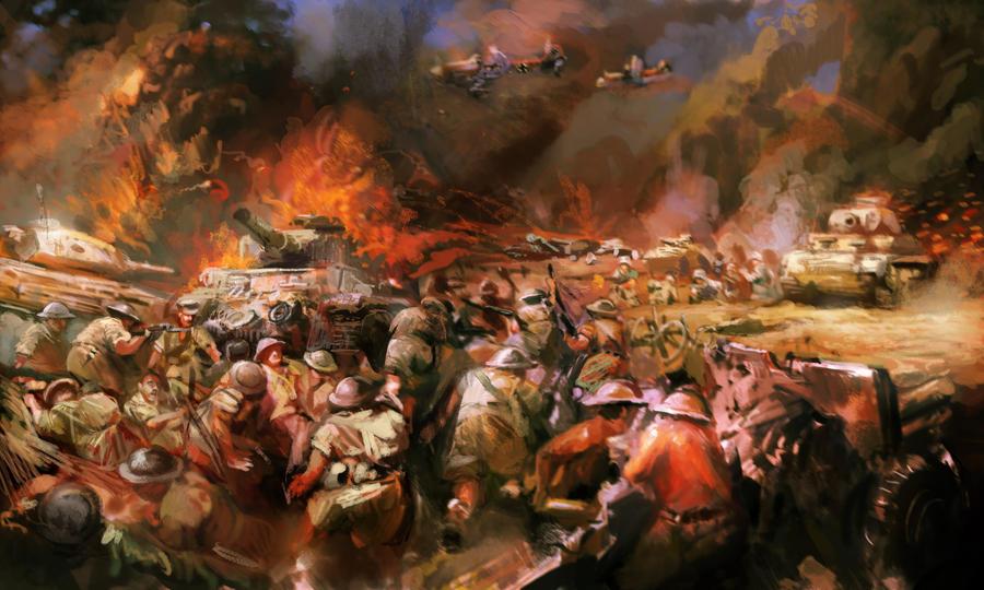 Desert War - North Africa WW2 by Mitchellnolte
