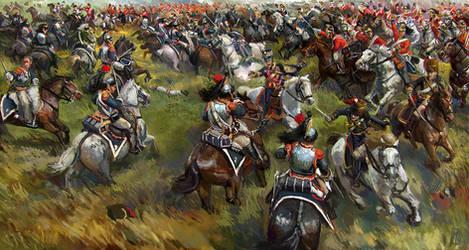 Earl of Uxbridge at Waterloo WIP by Mitchellnolte