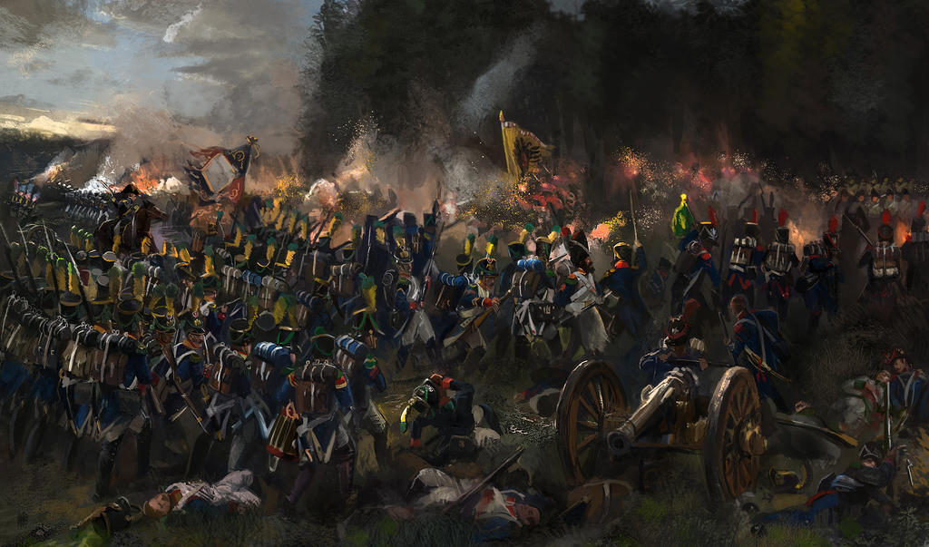 Battle of Teugn Hausen 19 April 1809 by Mitchellnolte