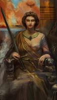 Queen of Swords by Mitchellnolte