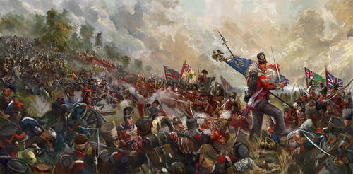 Battle of Barrosa 1811 (art for Forlorn Hope) by Mitchellnolte