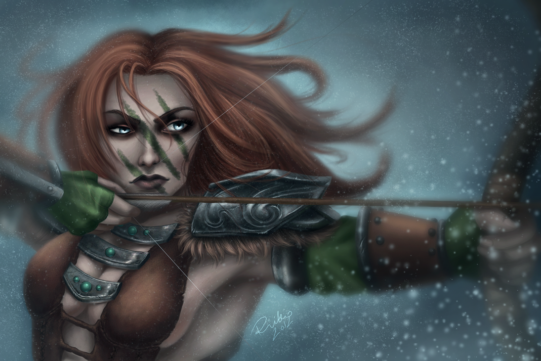 Aela the Huntress. by riikozor on DeviantArt