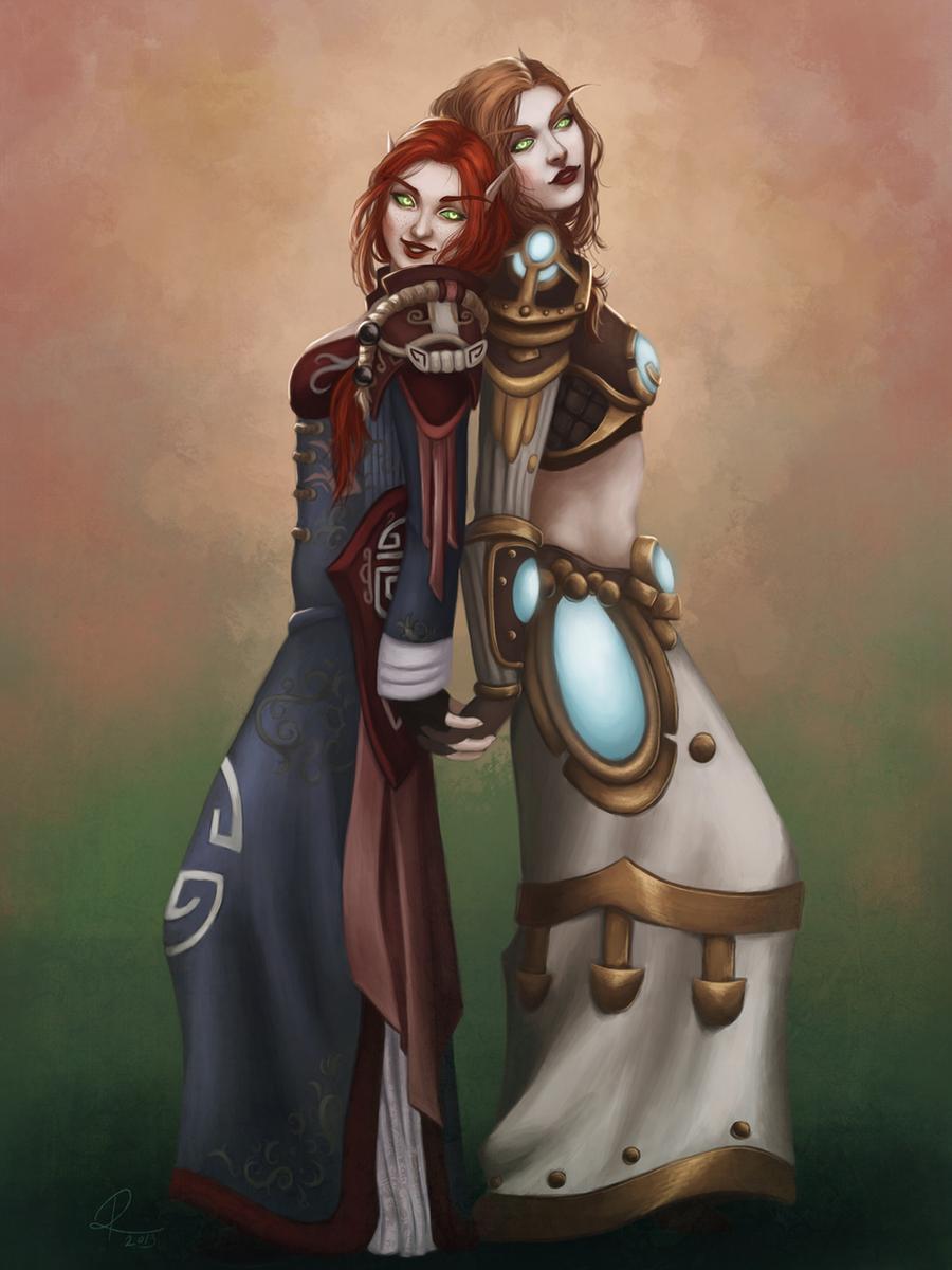Commission - Saidrym and Artemaesia by riikozor