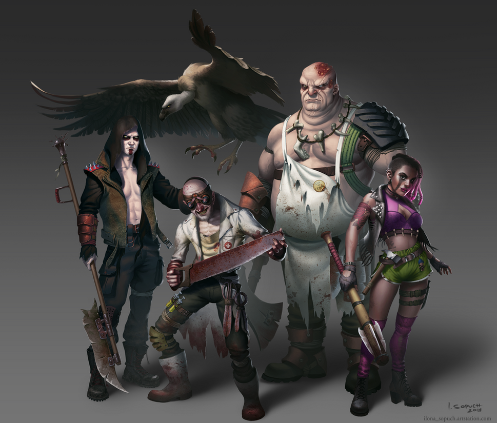 Postapo squad by riikozor