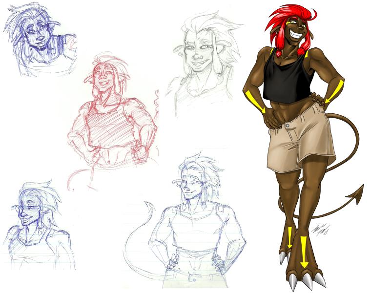 Shovy Sketches by ZaraLT