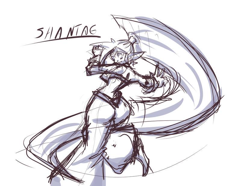 Shantae Sketch by N647