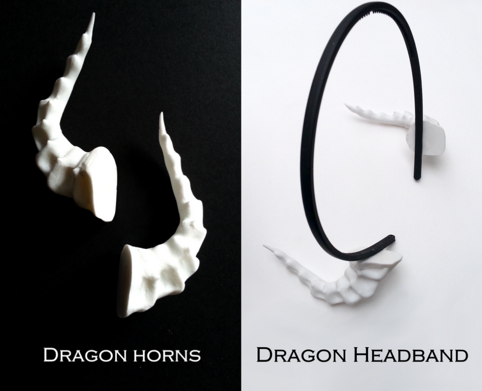 Dragon horns and headband Acsesories by N647