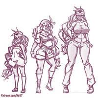 Megan growing up sketch by N647