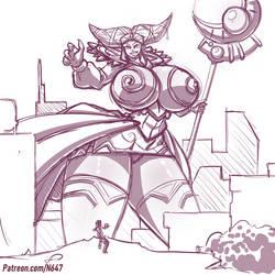 Rita repulsa giant attack by N647