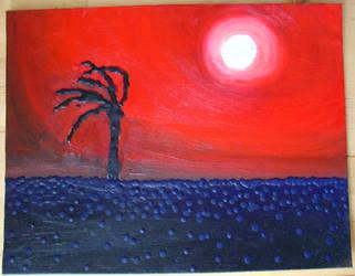 Splatter Sunset by juani-hokshana