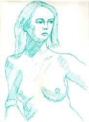Woman in green by juani-hokshana