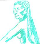 Woman in green01 by juani-hokshana