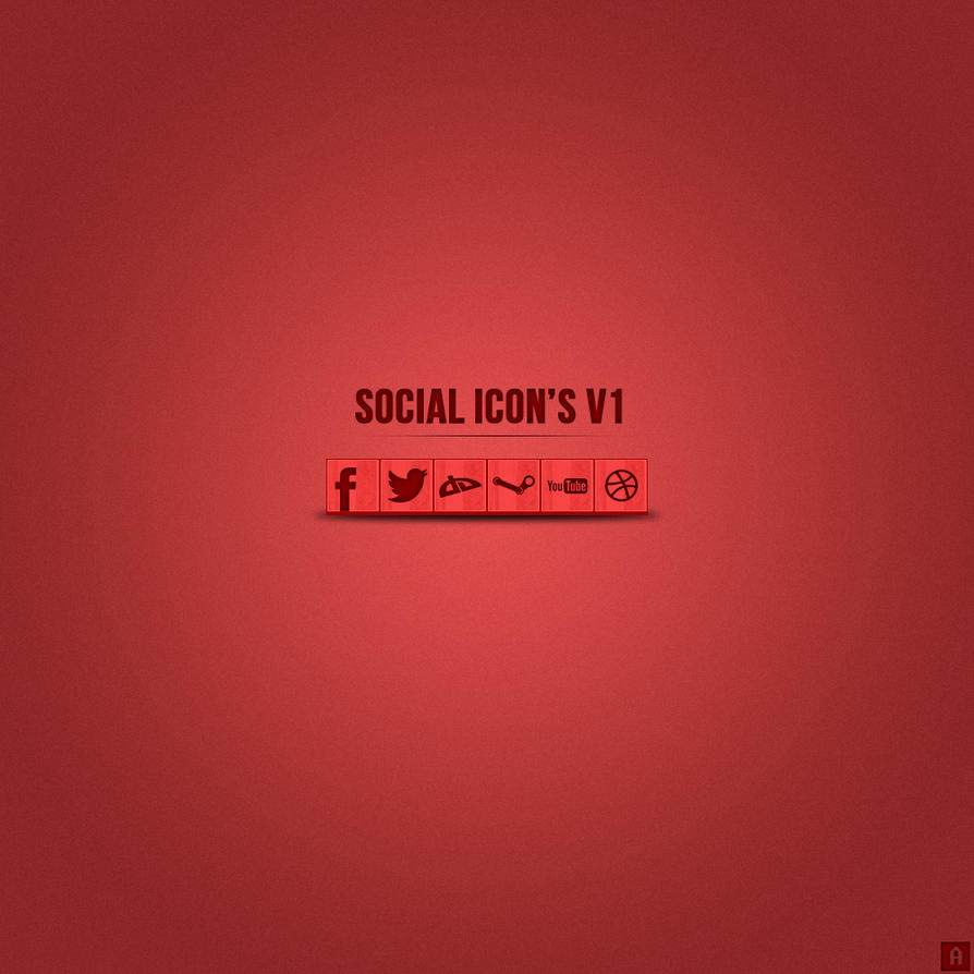 Social Icon's by AnthonyGraphix
