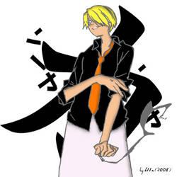 Sanji the Black Leg by k11n
