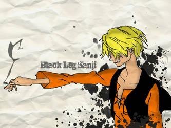Sanji the Black Leg Wallpaper by k11n