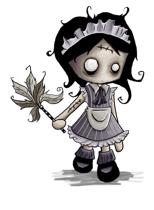 Zombie Maid by x-a-e