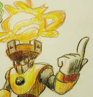 Experimenting with Crayons - Solar Man by luteus77