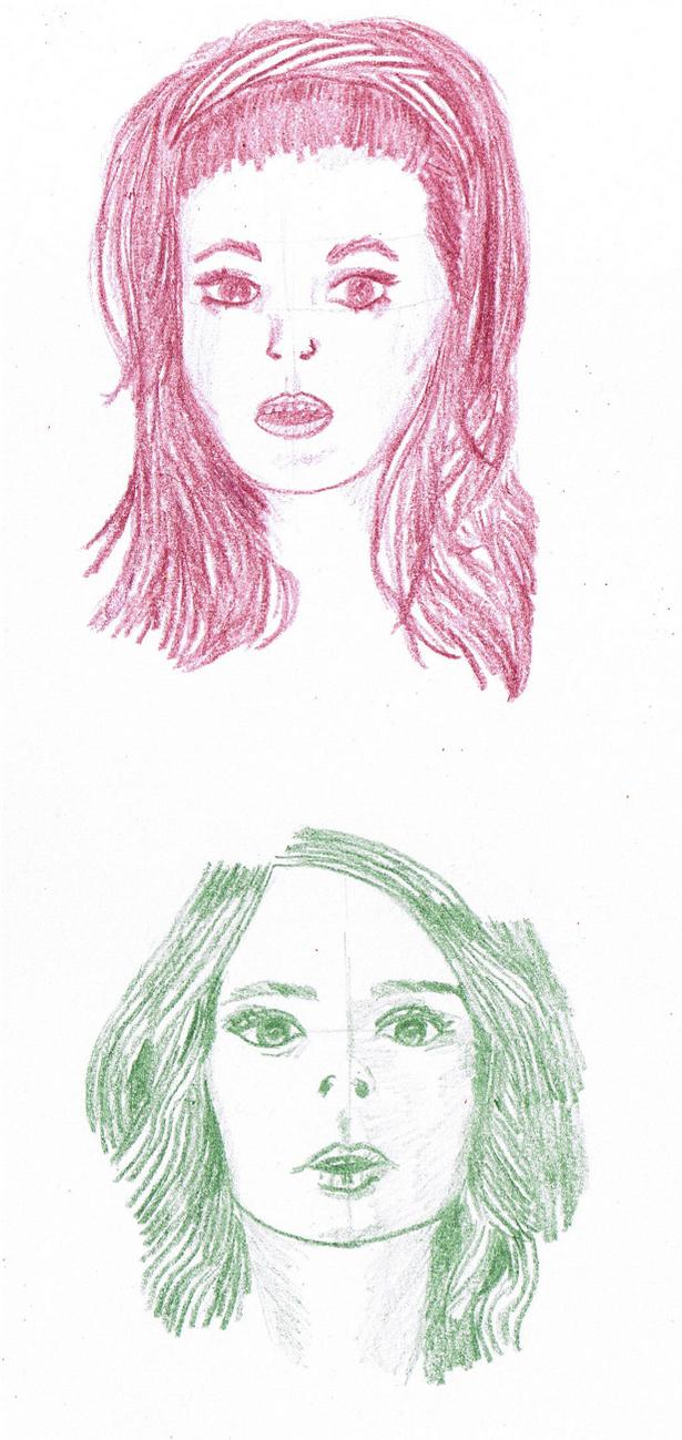 Two random girls by daguchna
