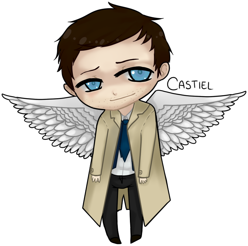 Little Castiel by Haku-Ellie