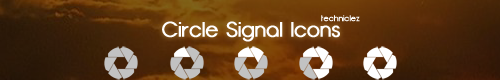 Circle Signal Icons by techniclez