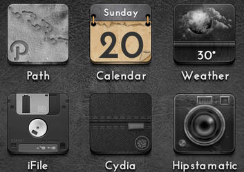 Calendar Icon - Jaku iOS theme on iPhone/iPod