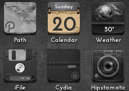 Calendar Icon - Jaku iOS theme on iPhone/iPod by techniclez