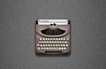 Typewriter Icon - Jaku theme by techniclez