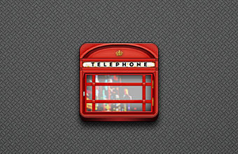 Phone Booth Icon - Jaku theme