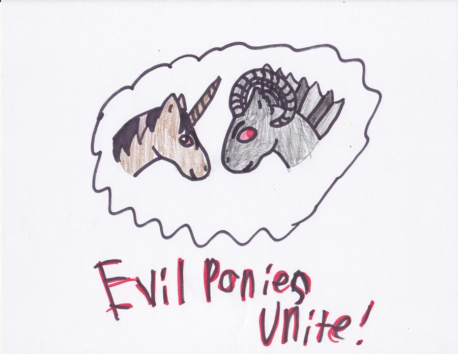 Evil Ponies! by blackstormwarrior