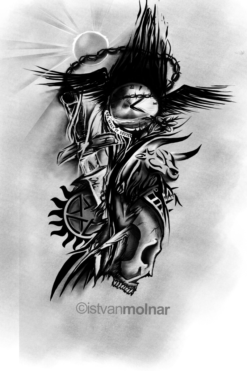 Sleeve tattoo design about me by molnaristvan22 on DeviantArt