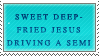 Sweet Deep-Fried Jesus Stamp by Spikytastic