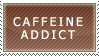 Caffeine Addict Stamp by Spikytastic