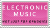 Electronic Music Stamp by Spikytastic