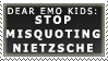Misquoting Nietzsche Stamp by Spikytastic
