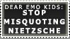 Misquoting Nietzsche Stamp