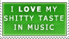 Taste in Music Stamp by Spikytastic
