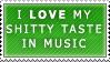 Taste in Music Stamp by Spikytastic